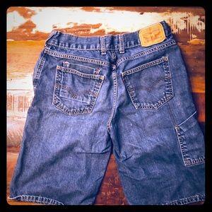 Levi's 569 Denim Cargo Shorts Medium Wash Size 29